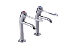 Extended Lever - 2158 High Neck Kitchen Tap Pair