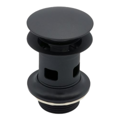 Premium Black Basin Waste Slotted With Large Round Click