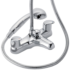 Haze - Deck Mounted Bath Shower Mixer with Shower Kit