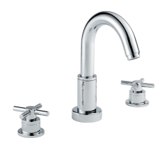 Xia - Deck Basin Mixer including Flip-up Waste