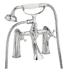 Traditional - Mounted Bath Shower Mixer with Shower Kit