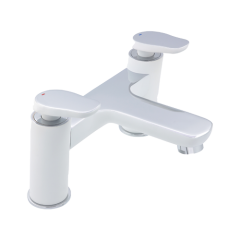 Gervasi Bath Filler White/Chrome