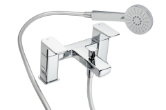Caja - Deck Bath Shower Mixer with Shower Kit