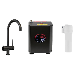 Black 3 way Hot Water Tap