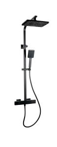 Barrio Extendable Thermostatic Shower Black