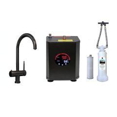Black 4 Way Hot Water Tap