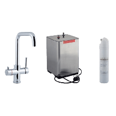 Instant Hot & Cold Kitchen Sink Mixer with Boiler & Filter Unit