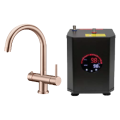 Copper 3 Way Hot Water Tap