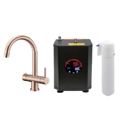 Copper 4 Way Hot Water Tap
