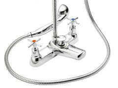 Cross Top - Bath Shower Mixer with Shower Kit