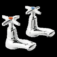 Cross Top - Bath Tap Pair